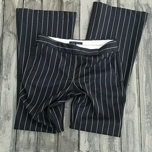 Theory wool wide pinstripe flare trouser  pants